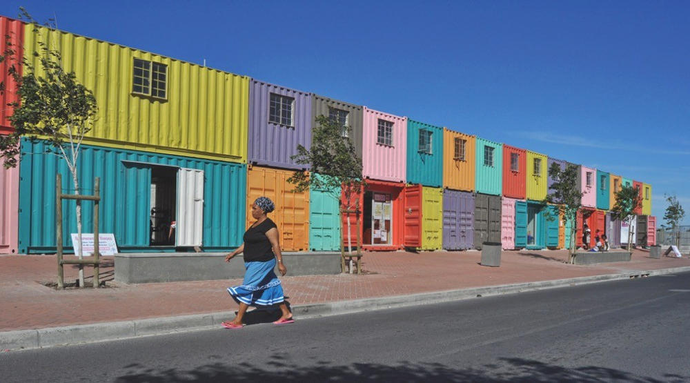 Colourful opportunities in Philippi, Cape Town, where reclaimed shipping containers offer small businesses and start-ups cost-effective work spaces. Feel inspired to make a difference by mentoring or sponsoring a business person here? Contact Emma on emm@tbp.co.za