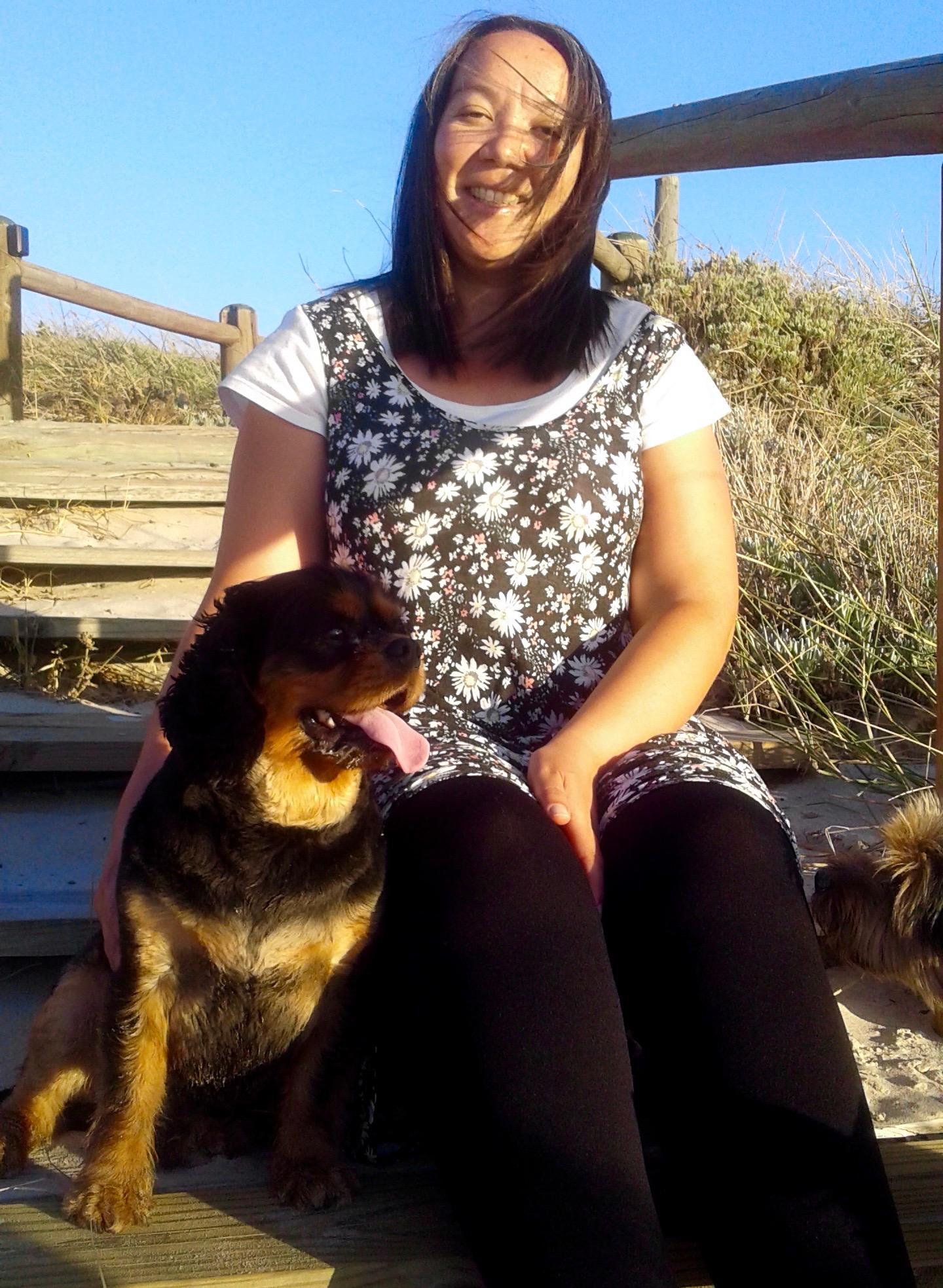 Leigh muller teacher with dog copy