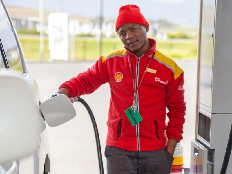 AT HOME WITH THE GARAGE ATTENDANT WHO PAID FOR HIS CUSTOMER'S PETROL!