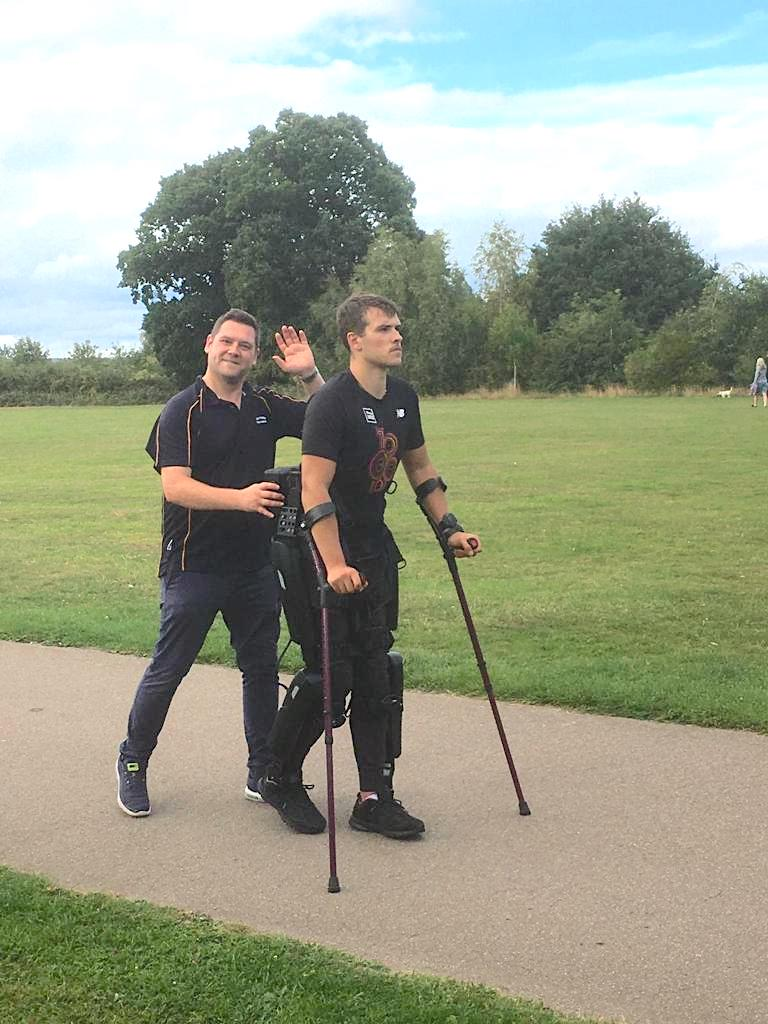 learning how to walk after accident